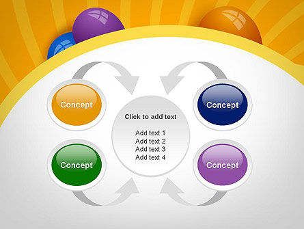 Colored Balloons PowerPoint Template Slide 6
