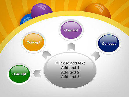 Colored Balloons PowerPoint Template Slide 7