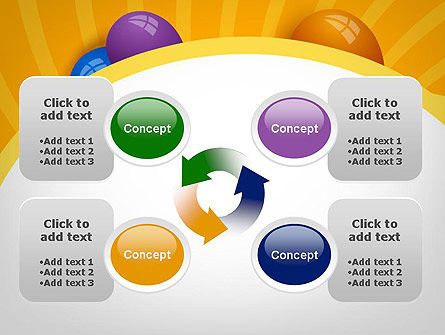 Colored Balloons PowerPoint Template Slide 9