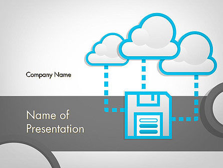 Cloud Storage PowerPoint Template, 11764, Technology and Science — PoweredTemplate.com