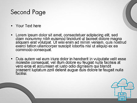 Cloud Storage PowerPoint Template, Slide 2, 11764, Technology and Science — PoweredTemplate.com