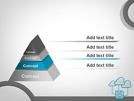 Cloud Storage PowerPoint Template, Slide 4, 11764, Technology and Science — PoweredTemplate.com