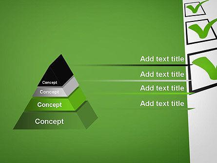 Checkbox PowerPoint Template Slide 12