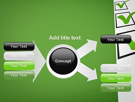 Checkbox PowerPoint Template Slide 14