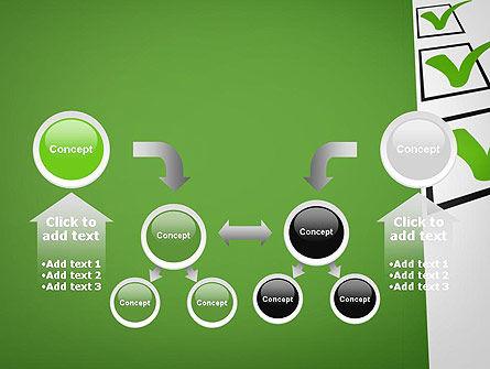 Checkbox PowerPoint Template Slide 19
