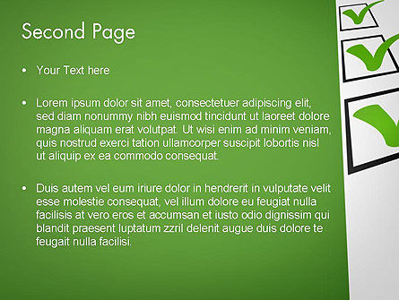Checkbox PowerPoint Template Slide 2