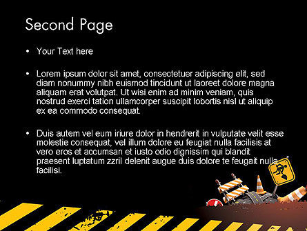 Concept of Road Works PowerPoint Template Slide 2