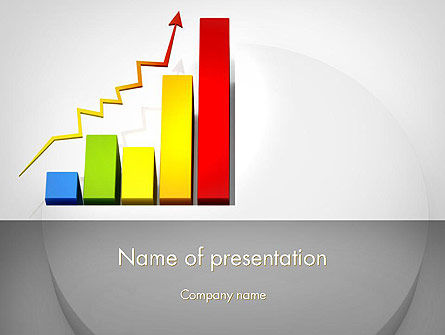 Business Concepts: Success Bar Chart PowerPoint Template #11767
