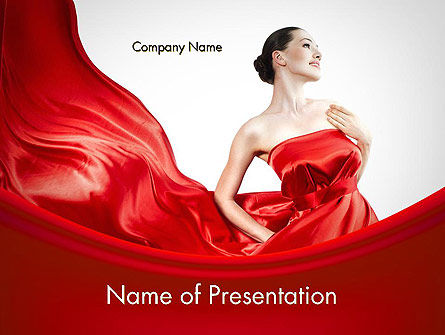 Woman in Red PowerPoint Template, 11770, People — PoweredTemplate.com