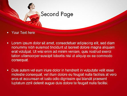 Woman in Red PowerPoint Template, Slide 2, 11770, People — PoweredTemplate.com