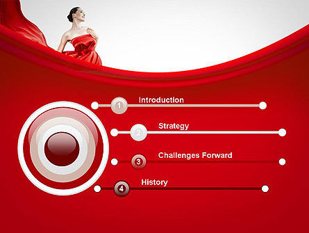Woman in Red PowerPoint Template, Slide 3, 11770, People — PoweredTemplate.com