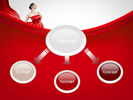Woman in Red PowerPoint Template Slide 4