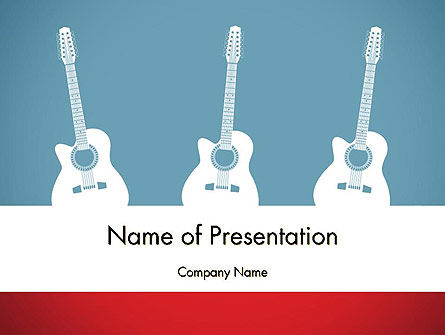 Art & Entertainment: Three Guitars PowerPoint Template #11771