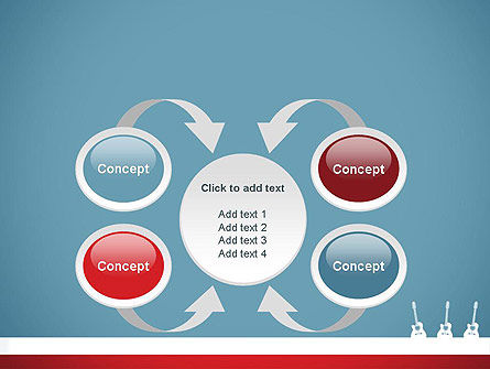 Three Guitars PowerPoint Template Slide 6