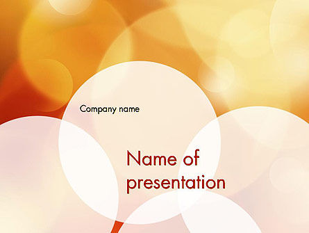 Yellow Sparkle Background PowerPoint Template