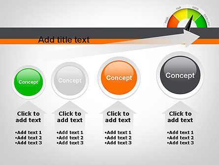 Rating Meter PowerPoint Template Slide 13