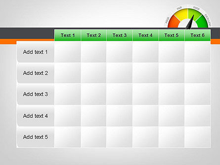 Rating Meter PowerPoint Template Slide 15