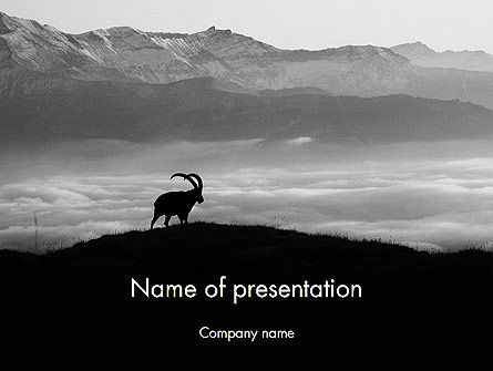 Nature & Environment: Chamois PowerPoint Template #11777