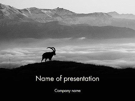 Chamois PowerPoint Template, 11777, Nature & Environment — PoweredTemplate.com