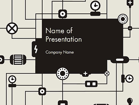 Wiring Background PowerPoint Template