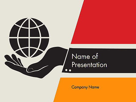 Global: Globe in Hand PowerPoint Template #11779