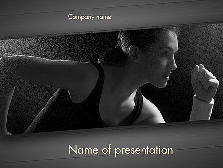 Sports: Will to Win PowerPoint Template #11780