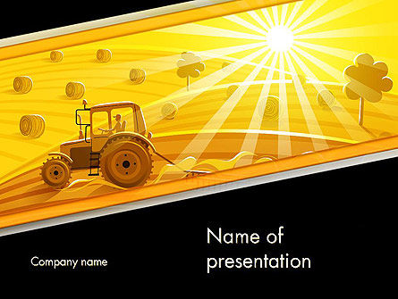 Small Farming PowerPoint Template, 11783, Agriculture — PoweredTemplate.com