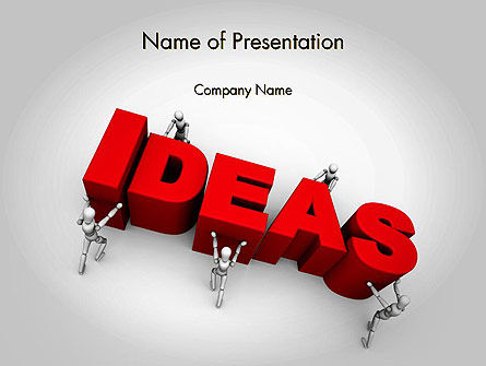 Business Concepts: Pushing Ideas PowerPoint Template #11785