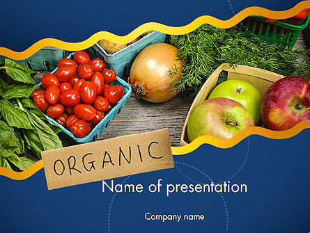 Organic Foods PowerPoint Template, 11787, Food & Beverage — PoweredTemplate.com