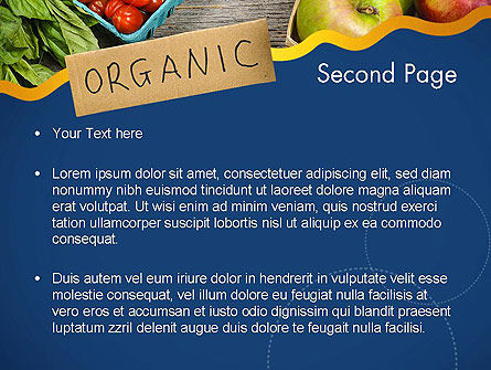 Organic Foods PowerPoint Template, Slide 2, 11787, Food & Beverage — PoweredTemplate.com