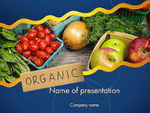 Food & Beverage: Modèle PowerPoint de aliments biologiques #11787
