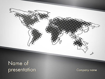 World Map Shape PowerPoint Template, 11788, Global — PoweredTemplate.com