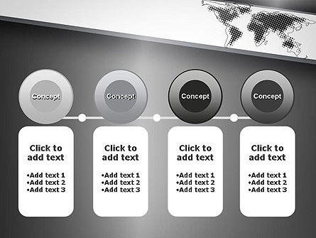 World Map Shape PowerPoint Template Slide 5