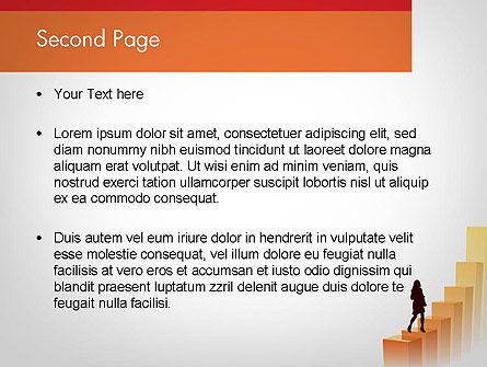 Walking Upward PowerPoint Template Slide 2