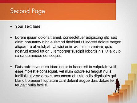 Walking Upward PowerPoint Template, Slide 2, 11789, Education & Training — PoweredTemplate.com
