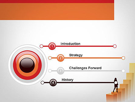 Walking Upward PowerPoint Template, Slide 3, 11789, Education & Training — PoweredTemplate.com