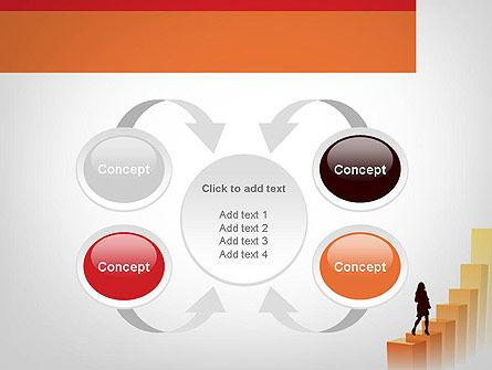 Walking Upward PowerPoint Template Slide 6