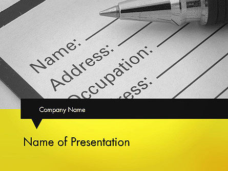Careers/Industry: Application Form PowerPoint Template #11790