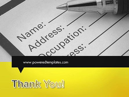 Application Form PowerPoint Template Slide 20