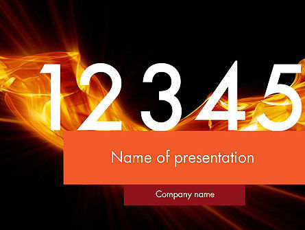 Numbers on Fire PowerPoint Template