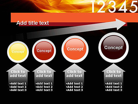 Numbers on Fire PowerPoint Template Slide 13
