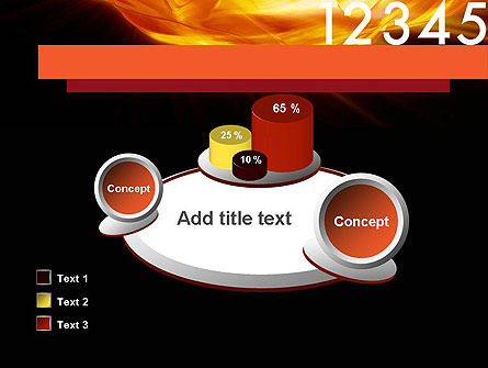 Numbers on Fire PowerPoint Template Slide 16