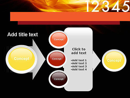 Numbers on Fire PowerPoint Template Slide 17
