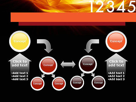 Numbers on Fire PowerPoint Template Slide 19