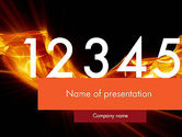 Education & Training: Numbers on Fire PowerPoint Template #11791