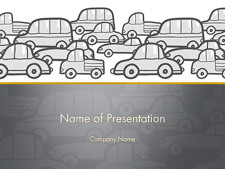 Traffic PowerPoint Template, 11794, Cars and Transportation — PoweredTemplate.com