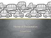 Cars and Transportation: Traffic PowerPoint Template #11794