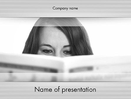 Education & Training: Happy Reading PowerPoint Template #11796