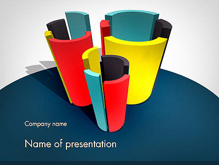 3D Diagrams PowerPoint Template, 11798, Business Concepts — PoweredTemplate.com