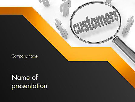 Database Marketing PowerPoint Template, 11800, Careers/Industry — PoweredTemplate.com
